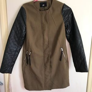 H&M Leather Sleeve Jacket